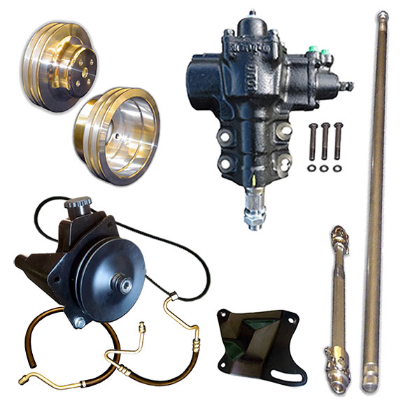 Deluxe Power Steering Conversion Kit - Close Ratio
