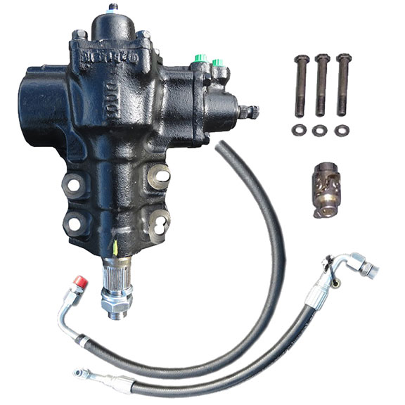 Power Steering Conversion Box w/Hoses - Close Ratio