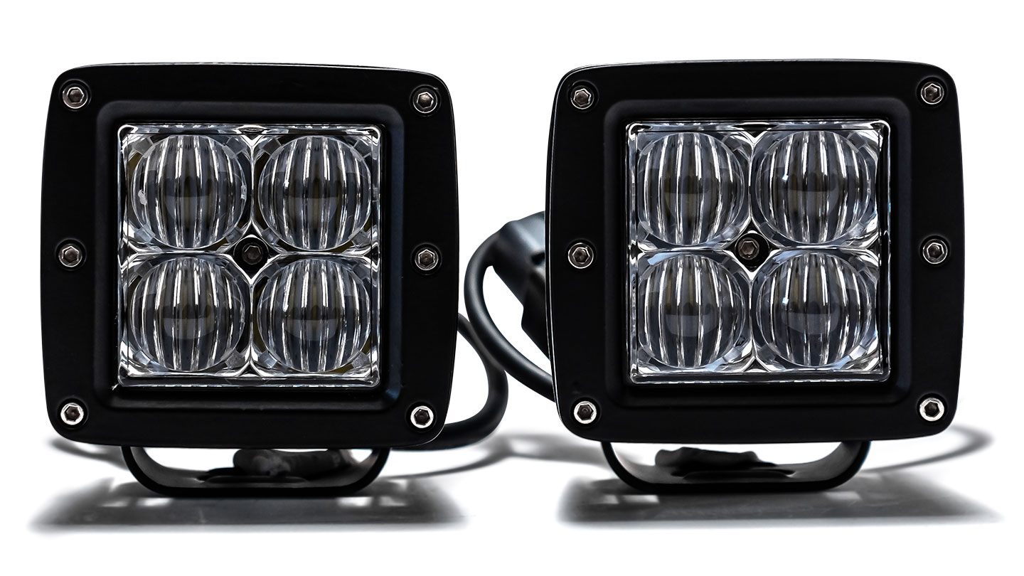 "TBP LED Off-Road Light Pod Kit - 2 x 3"" Pods w/Harness, FLOOD"