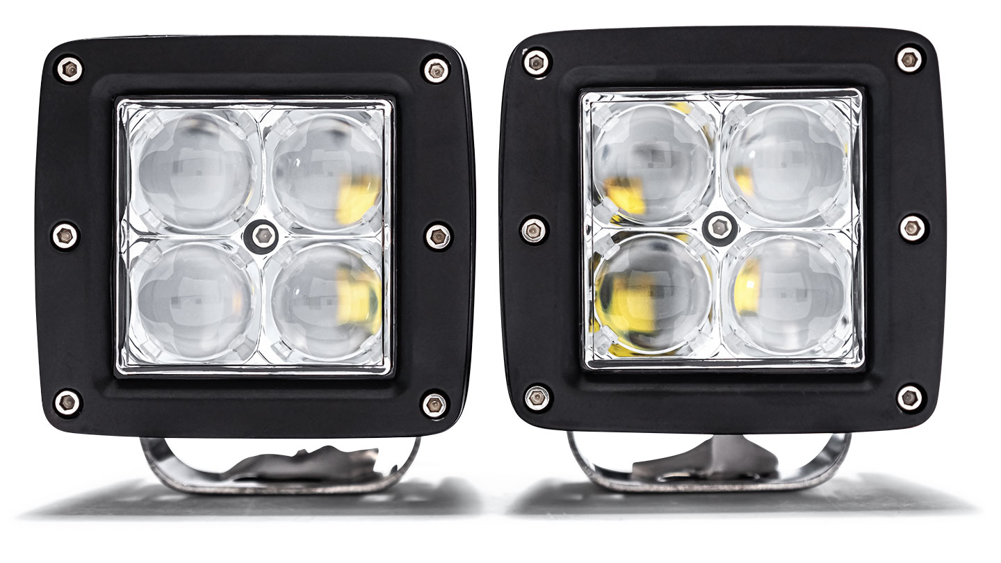 "TBP LED Off-Road Light Pod Kit - 2 x 3"" Pods w/Harness, SPOT"