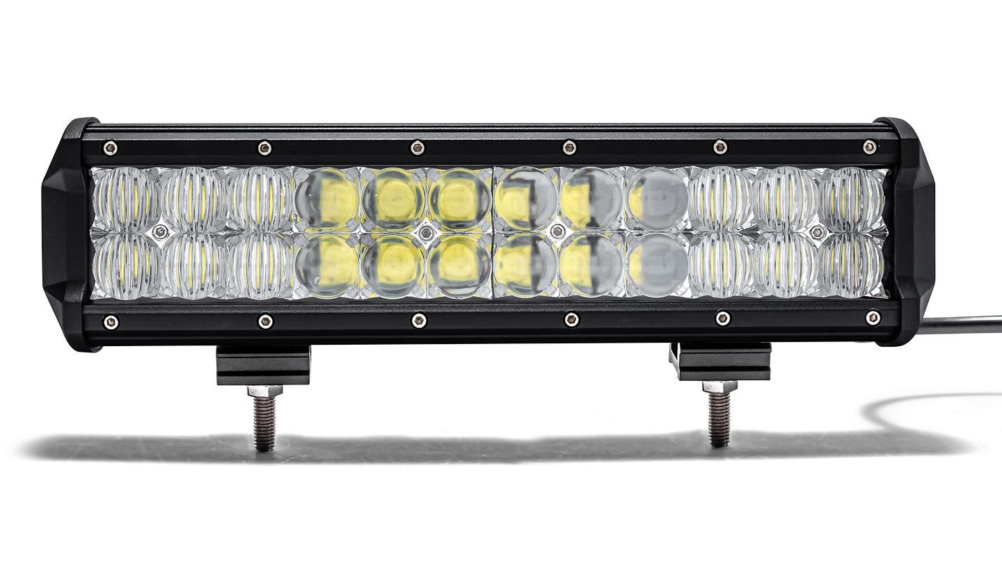 "12"" Dual Row LED Light Bar by TBP Off-Road, Flood/Spot COMBO"