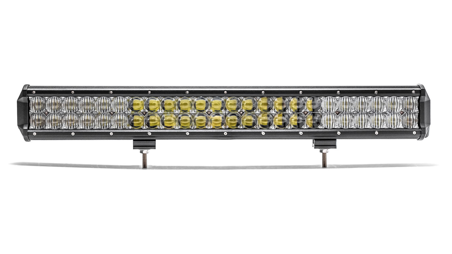 "22.9"" Dual Row LED Light Bar by TBP Off-Road, Flood/Spot COMBO"