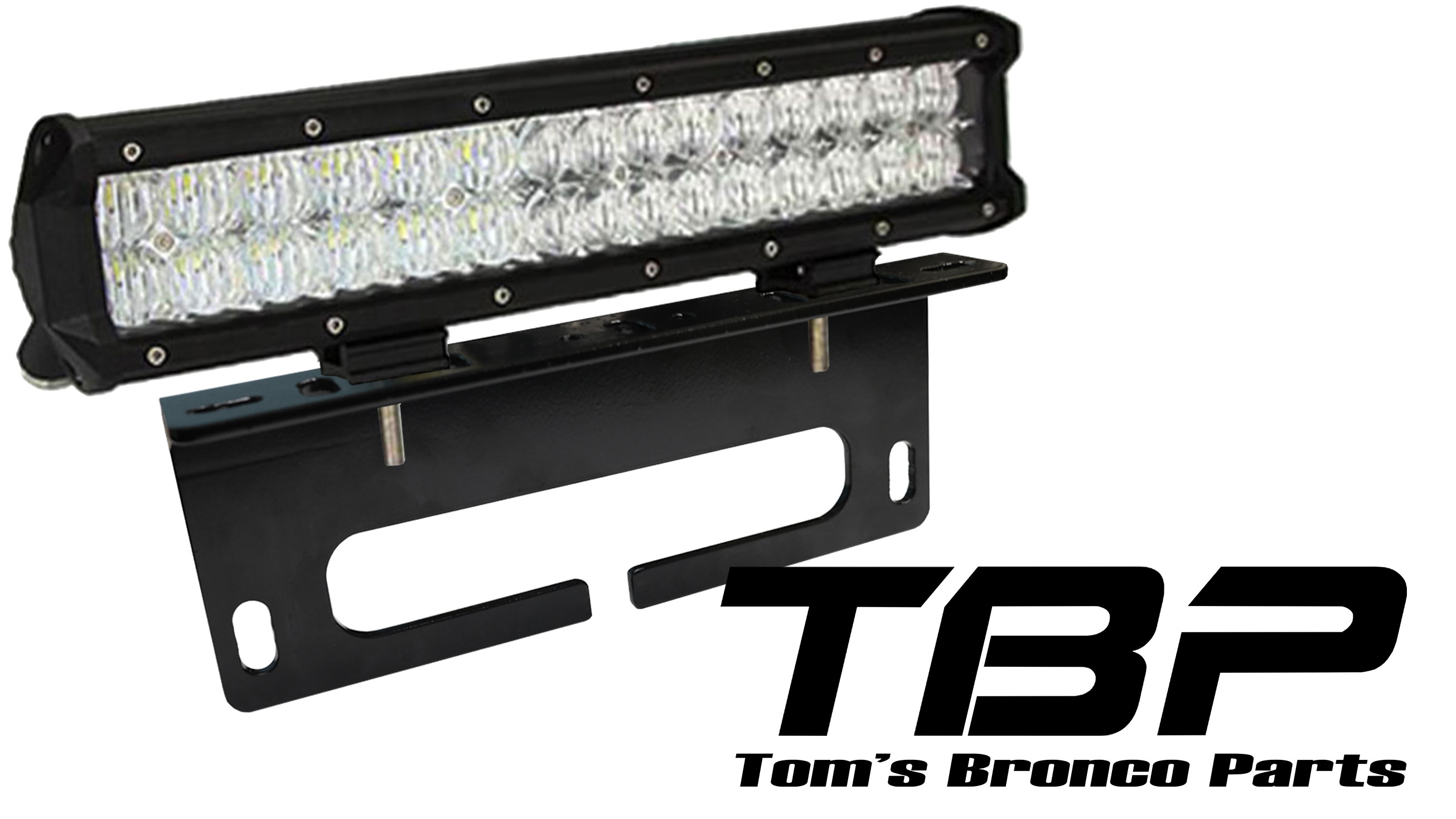 66 77 Ford Bronco Parts Accessories Toms 74 F100 Wiring Diagram 15 Dual Row Led Light Bar W Winch Fairlead Mount
