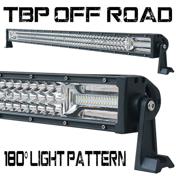 "52"" Triple Row LED Light Bar by TBP Off-Road, Flood/Spot COMBO, 180 degree Light"