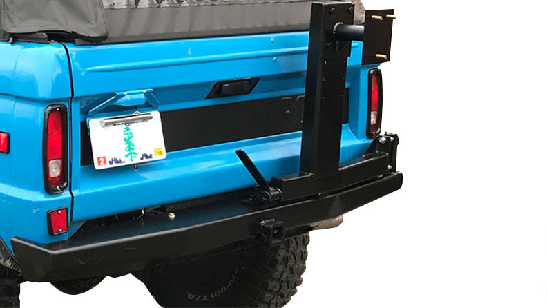Impact Series Rear Bumper w/Tire Carrier, 66-77 Ford Bronco