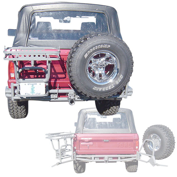 Rear Pre-Runner Bumper w/3 Rack System - Cam Lock
