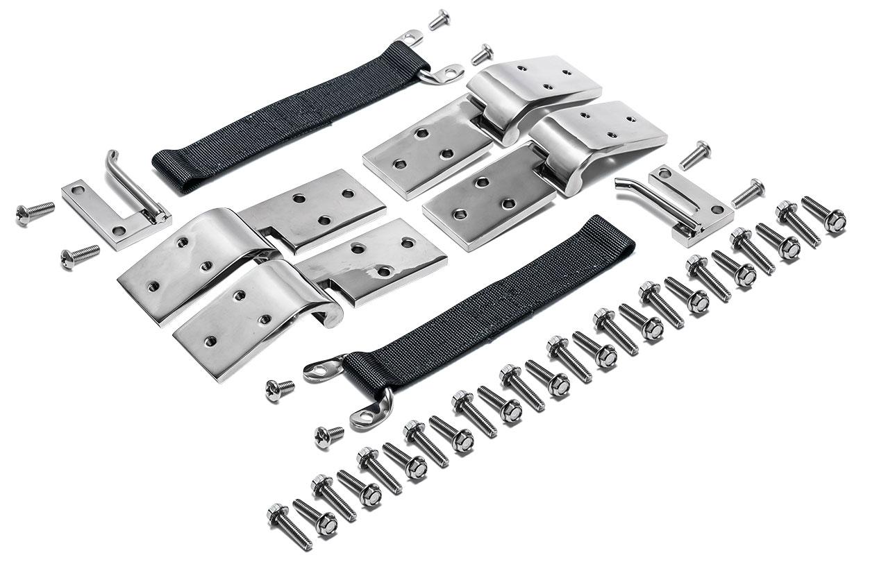 Quick Release Door Hinges - Stainless Steel (set of 4)