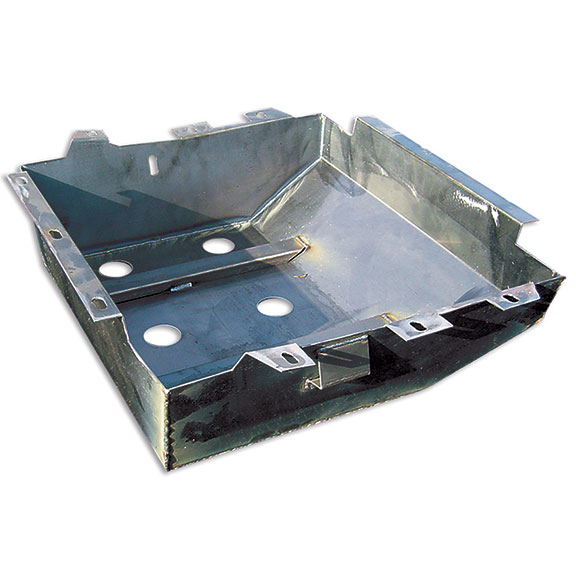 Rear/Main Fuel Tank Skid Plate, 1977 Ford Bronco