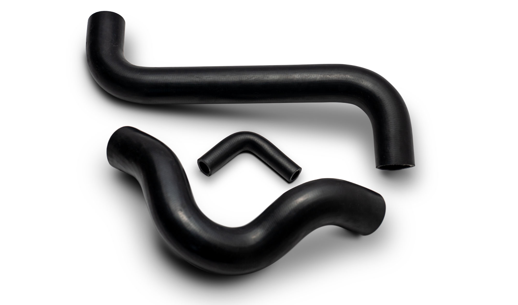 Rubber Radiator Hose Kit (Upper, Lower & Bypass Hoses), V8