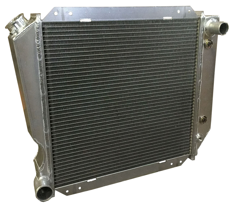 HD Aluminum Radiator - 289/302/351W V8, 66-77 Ford Bronco