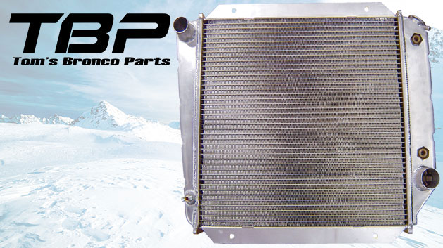 HD Aluminum Radiator - 289/302/351W V8, 66-77 Ford Bronco,Blemished