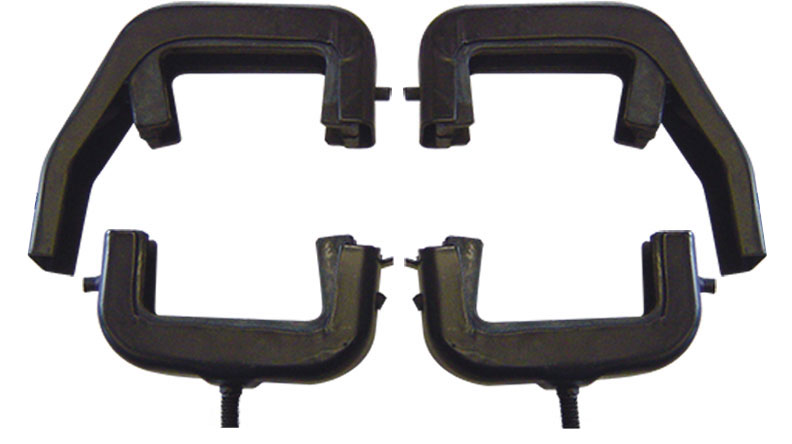 Black 3-Core Radiator Brackets & Bushings for V8