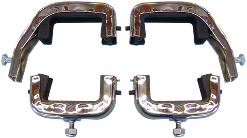 Radiator Brackets & Bushings - 3 Core, Stainless Steel