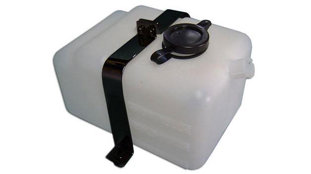 Radiator Overflow Bottle w/Black Brackets, OEM Style