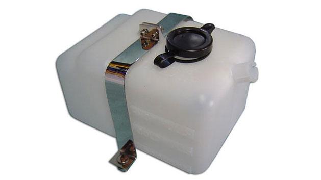 Radiator Overflow Bottle w/Stainless Brackets, OEM Style
