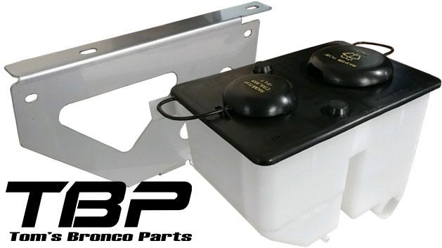 Washer & Coolant Combo Bottle w/Mounting Bracket, 66-77 Bronco
