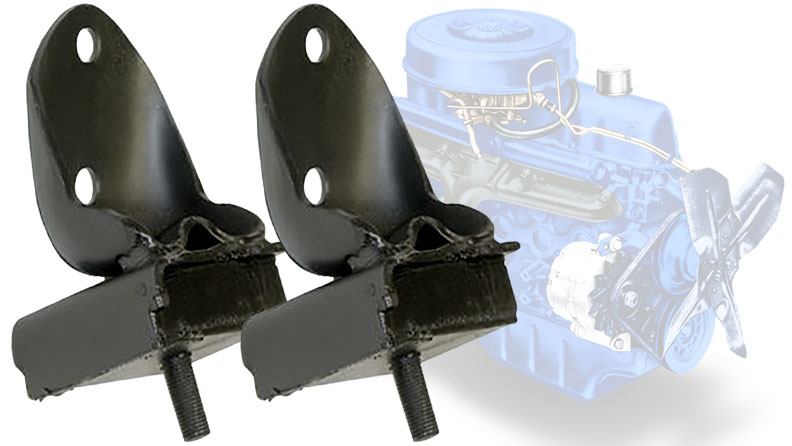 Motor Mounts - 170/200 cid 6-cylinder, pair