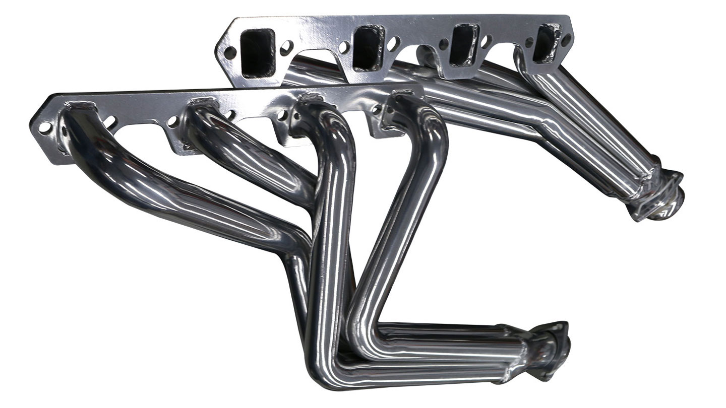 Headers - V8, POLISHED CERAMIC Stainless Steel (fits 289, 302 & 351w)