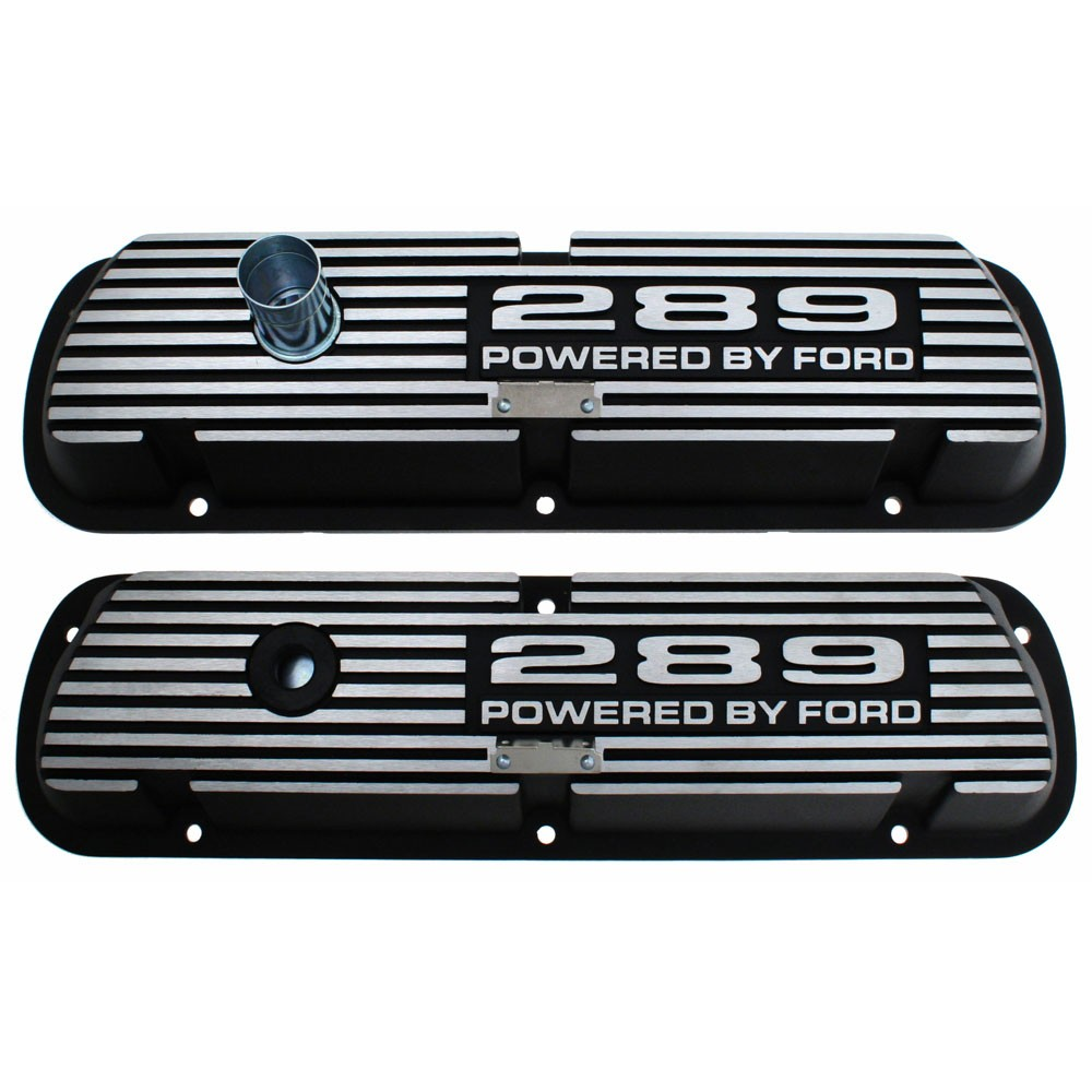 Aluminum Valve Covers - Black w/289 Engine Script