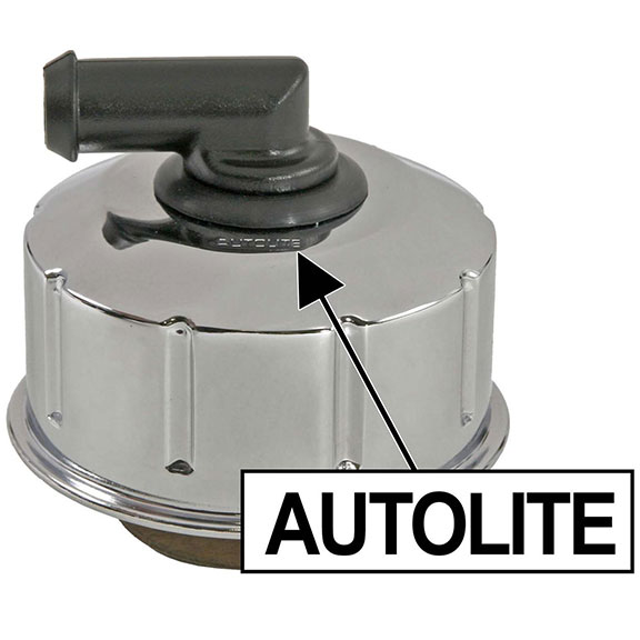 Autolite Valve Cover Breather Cap, Chrome