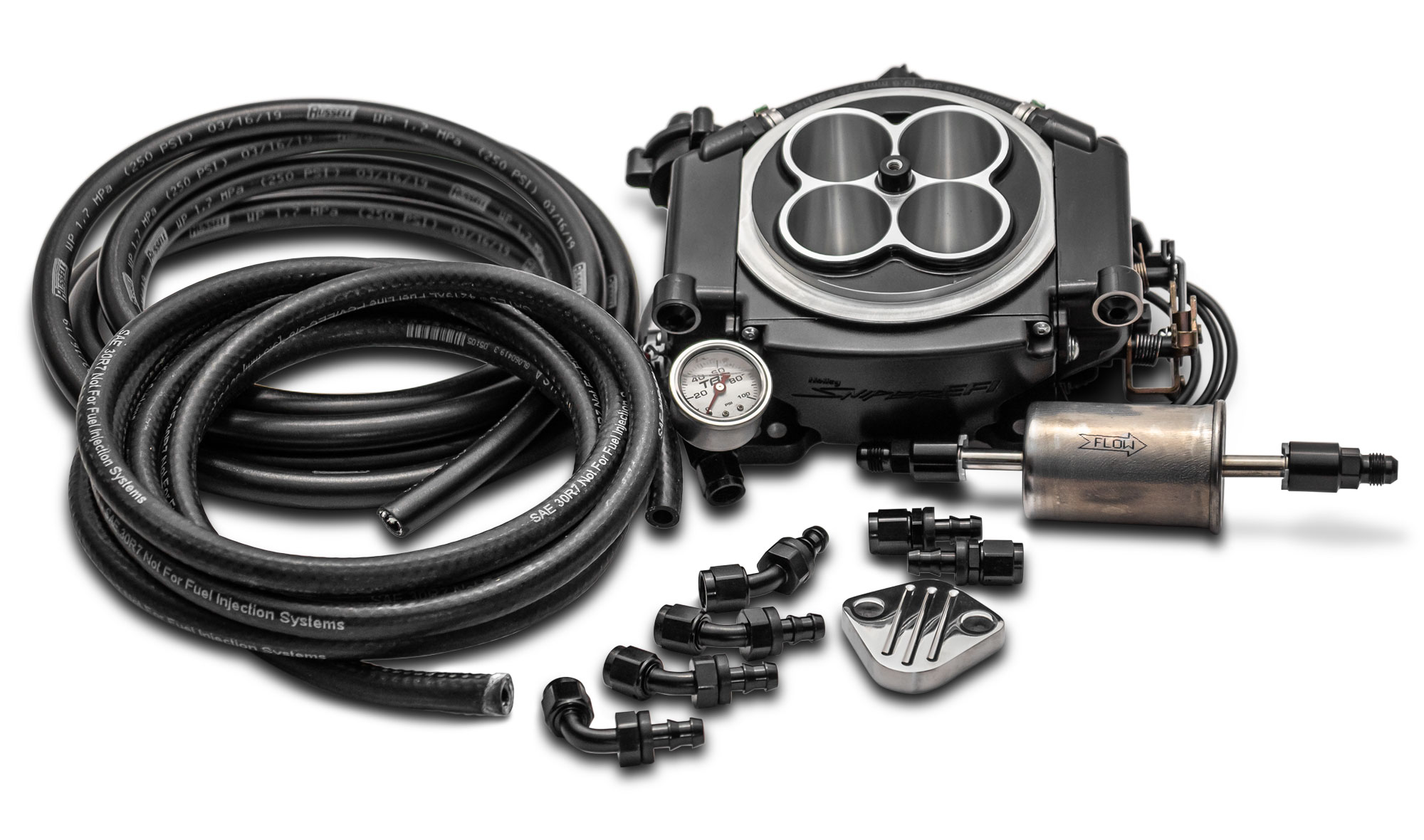 Holley Sniper EFI Master Kit - Black Ceramic, TBP Exclusive