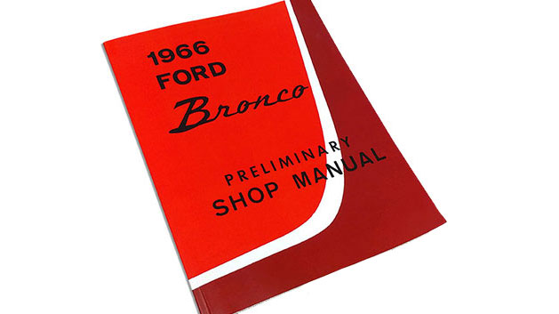 1966 Ford Bronco Preliminary Shop Manual Reprint