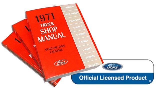 1971 Ford Truck Shop Manual Reprint