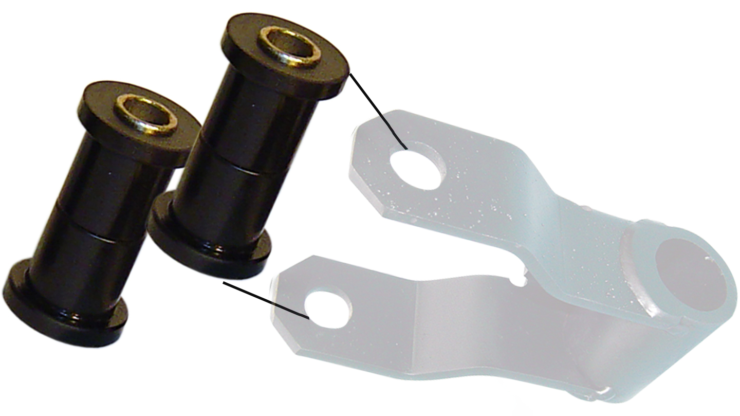 Rear Leaf Shackle Bushings, Polyurethene, pair