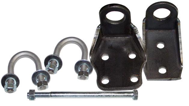 Steering Stabilizer Brackets, 66-75 Ford Bronco, Pair