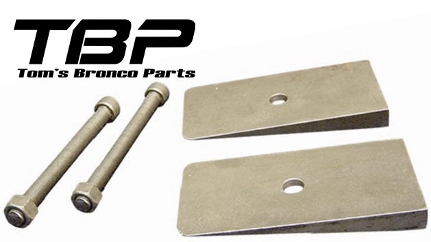 Leaf Spring Shim Kit - 6 Degree, Steel, pair