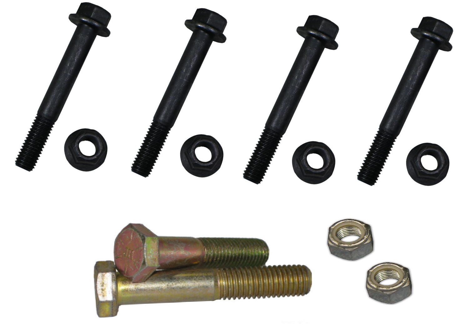 Rear Leaf Spring & Shackle Mounting Hardware Bolt Kit