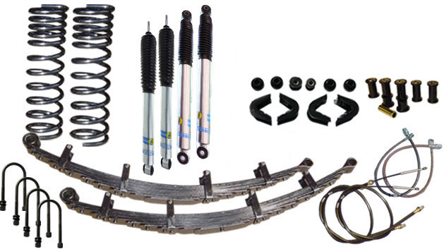 "2.5"" Premium Suspension Lift Kit System w/ Bilstein Shocks - Stage 4, 66-77 Ford Bronco, New"