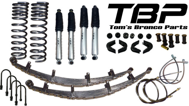 """2.5"""" Suspension Lift Kit System - Stage 4, 66-77 Ford Bronco, New"""