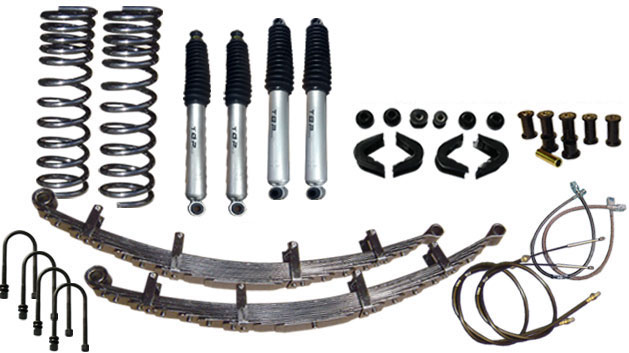 "2.5"" Suspension Lift Kit System - Stage 4, 66-77 Ford Bronco, New"