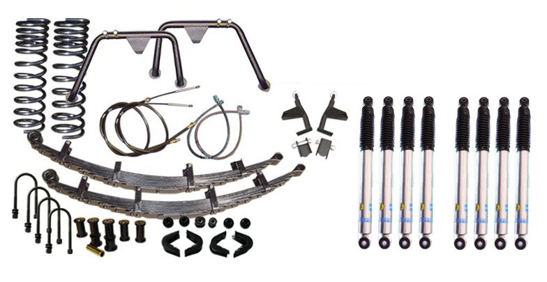 "2.5"" Premium Suspension Lift Kit System w/ Bilstein Shocks - Stage 5, 66-77 Ford Bronco, New"