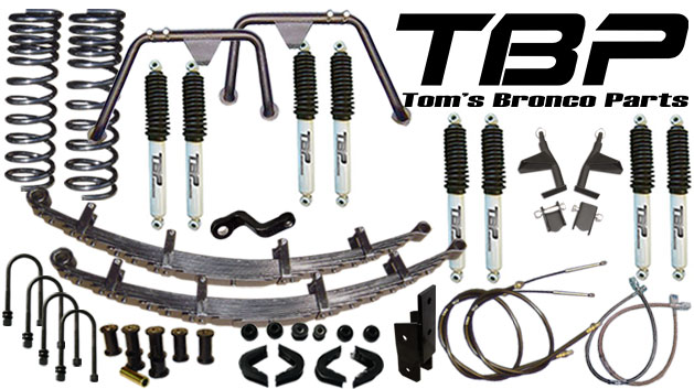 "5.5"" Suspension Lift Kit System - Stage 10, 66-77 Ford Bronco, New"