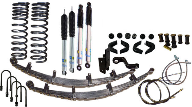 "5.5"" Premium Suspension Lift Kit System w/ Bilstein Shocks - Stage 11, 66-77 Ford Bronco, New"