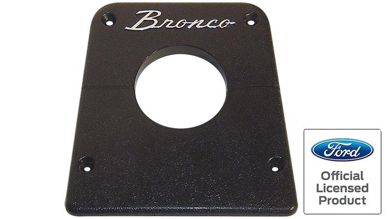 Steering Column Bezel - Black w/Bronco Script