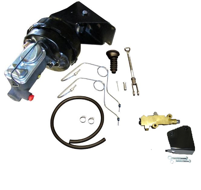 ULTIMATE Power Brake Kit for 4 Wheel Disc Brakes Conversion w/ Prop Valve, SS Lines