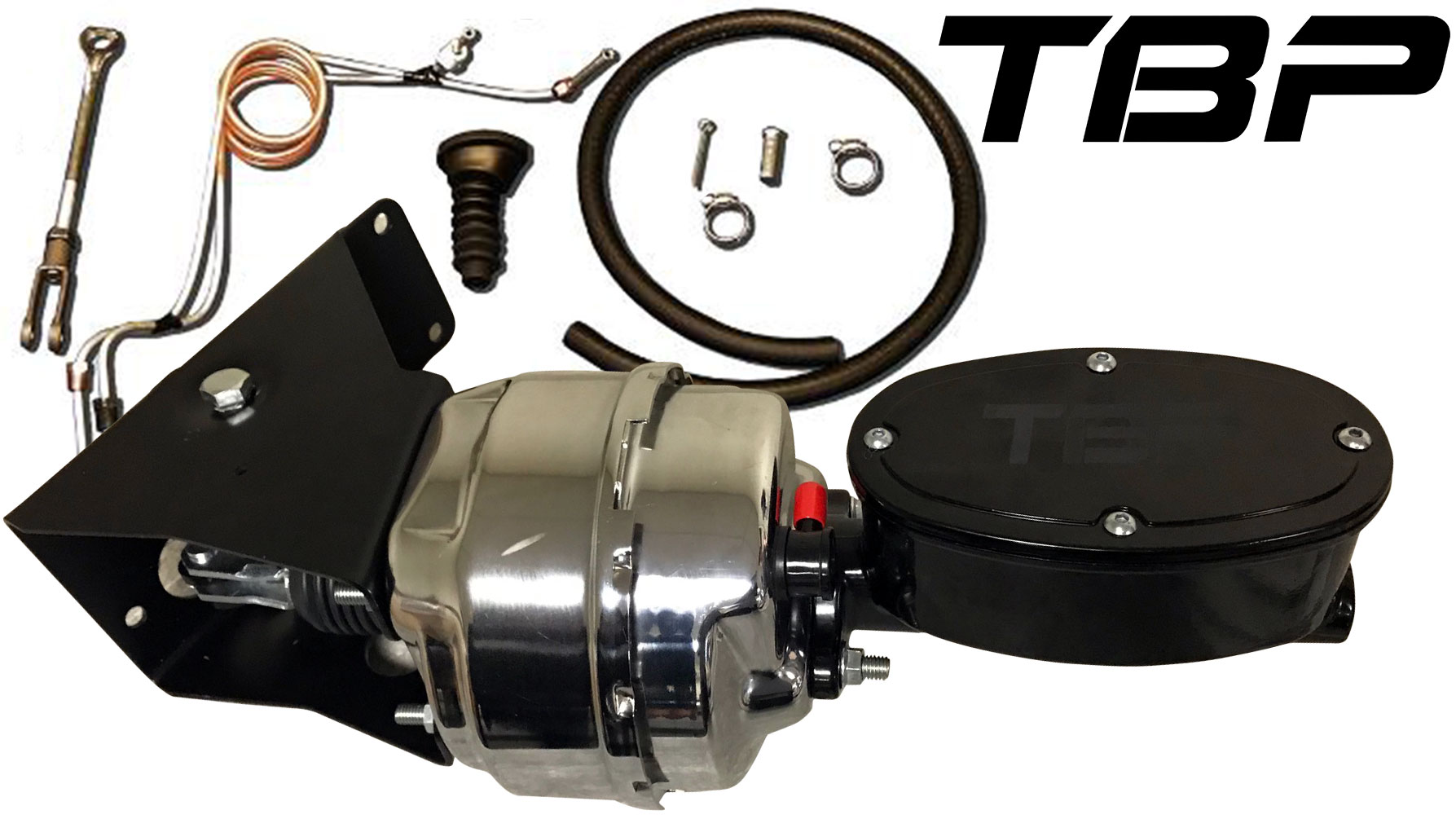 Chrome Power Brake Kit w/Billet Master Cylinder