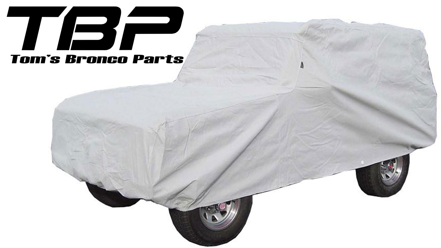 Indoor Car Cover - Custom Fit for 66-77 Bronco w/Factory Spare Tire