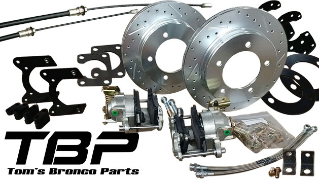 DRILLED/SLOTTED Rear Disc Brake Kit