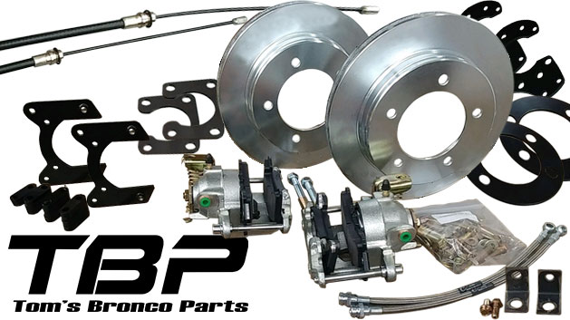 Rear Disc Brake Kit w/E-Brake for 11'' Drums