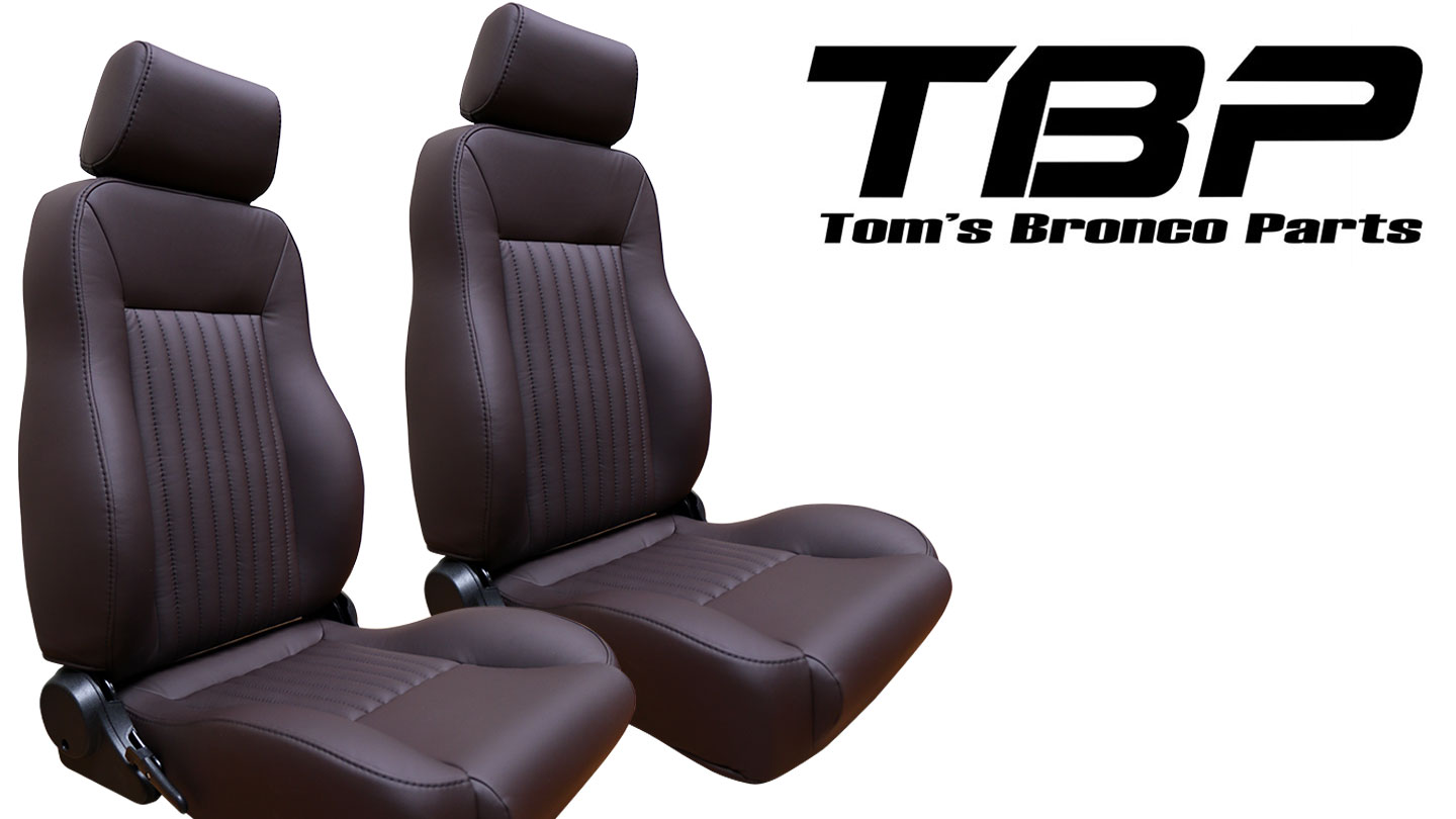 PREMIUM Bucket Seats - Dark Brown w/Brackets, pair
