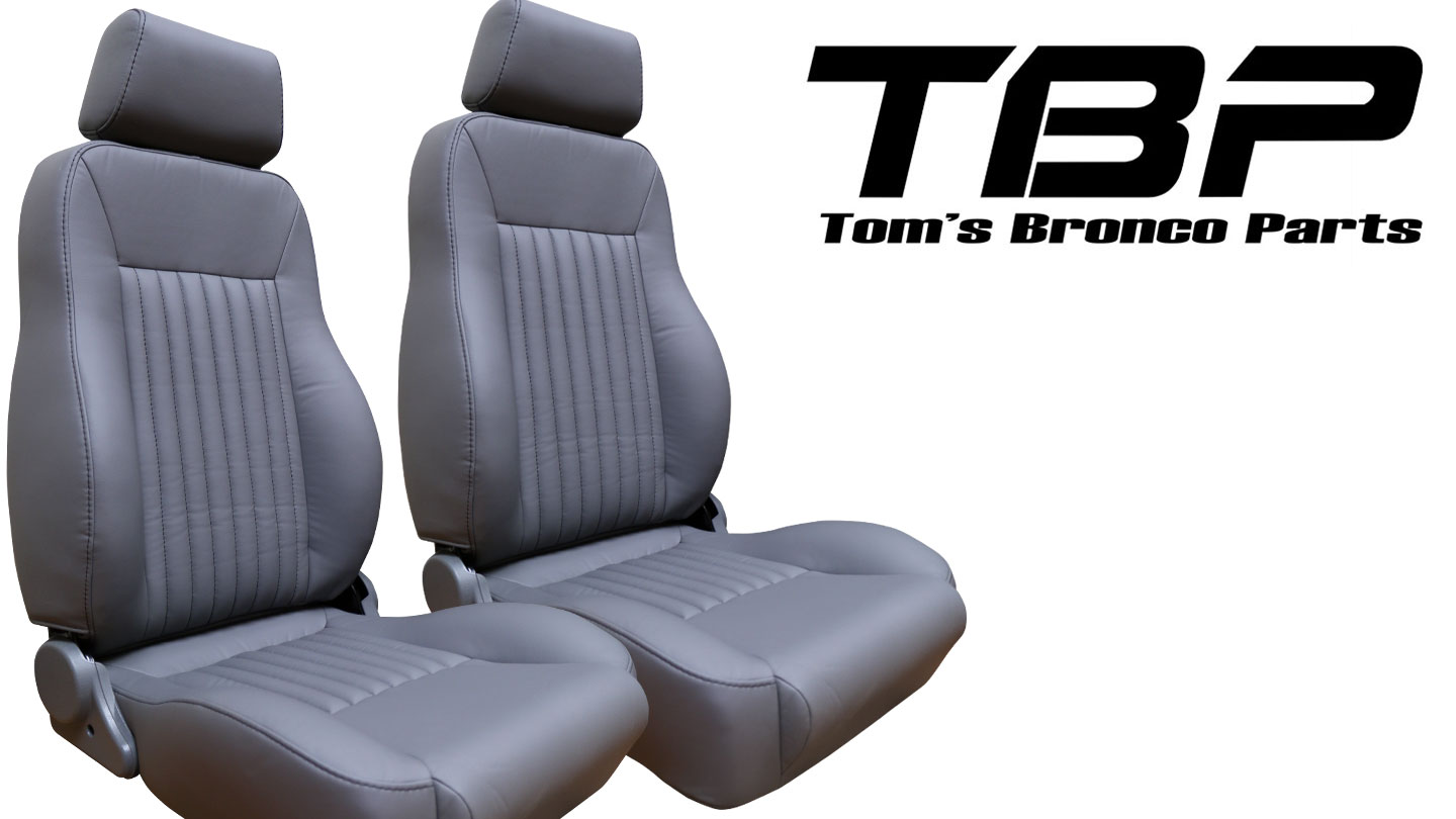 PREMIUM Bucket Seats - Gray w/Brackets, pair