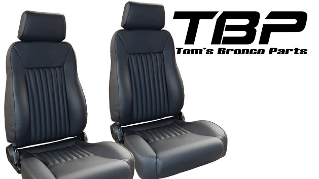 PREMIUM Bucket Seats - Black w/Brackets, pair