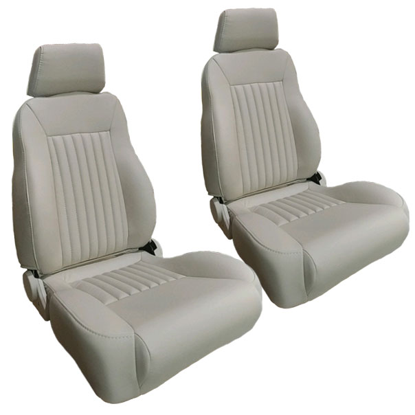 PREMIUM Bucket Seats - Parchment w/Brackets, pair
