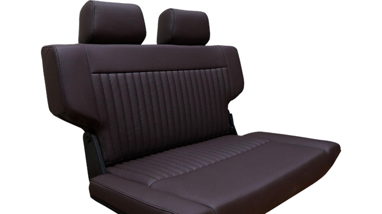 PREMIUM Rear Fold & Tumble Seat - Dark Brown w/Brackets