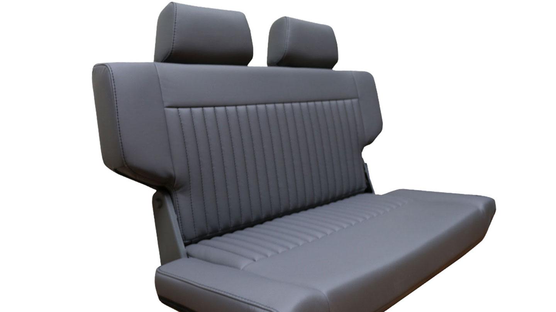PREMIUM Rear Fold & Tumble Seat - Gray w/Brackets