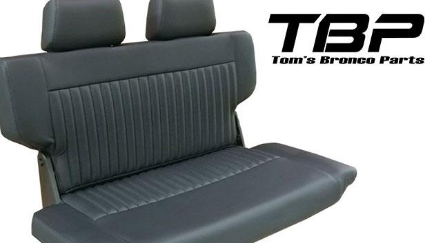 PREMIUM Rear Fold & Tumble Seat - Black w/Brackets